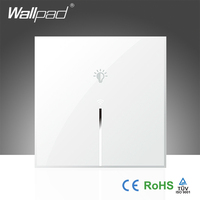 Hot Sales Wallpad White Crystal Glass 110 250V EU 1 Gang Phone Wifi Wireless Directly Controlled