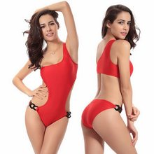 2019 Novelties One Piece Swimsuit Woman Plus Size Swimwear Wholesale Sex Monokini Ladies Swim Wear Orange Swimming Suit XXL(China)