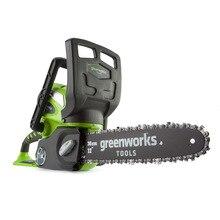 Цепная пила аккумуляторная Greenworks G40CS30 40V (Длина шины 300 мм, совместима с аккумуляторами 40V, скорость движения цепи 4,2 м/сек, небольшой вес 3.65 кг, в комплект не входит аккумулятор и зарядное устройство)
