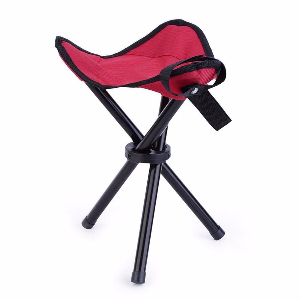 Outdoor Folding Tripod Three Feet Chair Portable Hiking Fishing BBQ Stool Waterproof Nylon Fabric And Coated