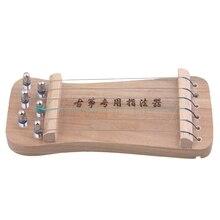 Yibuy 6 струн твердой древесины Традиционный китайский гучжэн палец тренажер для рук