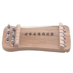 Yibuy 6 cordas de madeira maciça tradicional chinês guzheng dedo mão exercitador