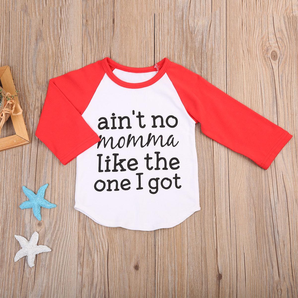 2017 Nieuwe Aankomst Pasgeboren Infant Kids Baby Jongen Katoen Lange Mouw Outfits Kleding T-shirt Tops Letters Ik Kreeg Kleding 0-24 M