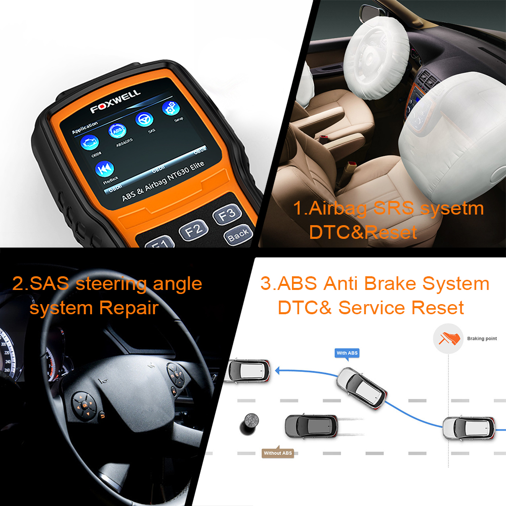 SRS airbag system monitors