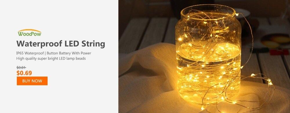 WoodPow Waterproof LED String