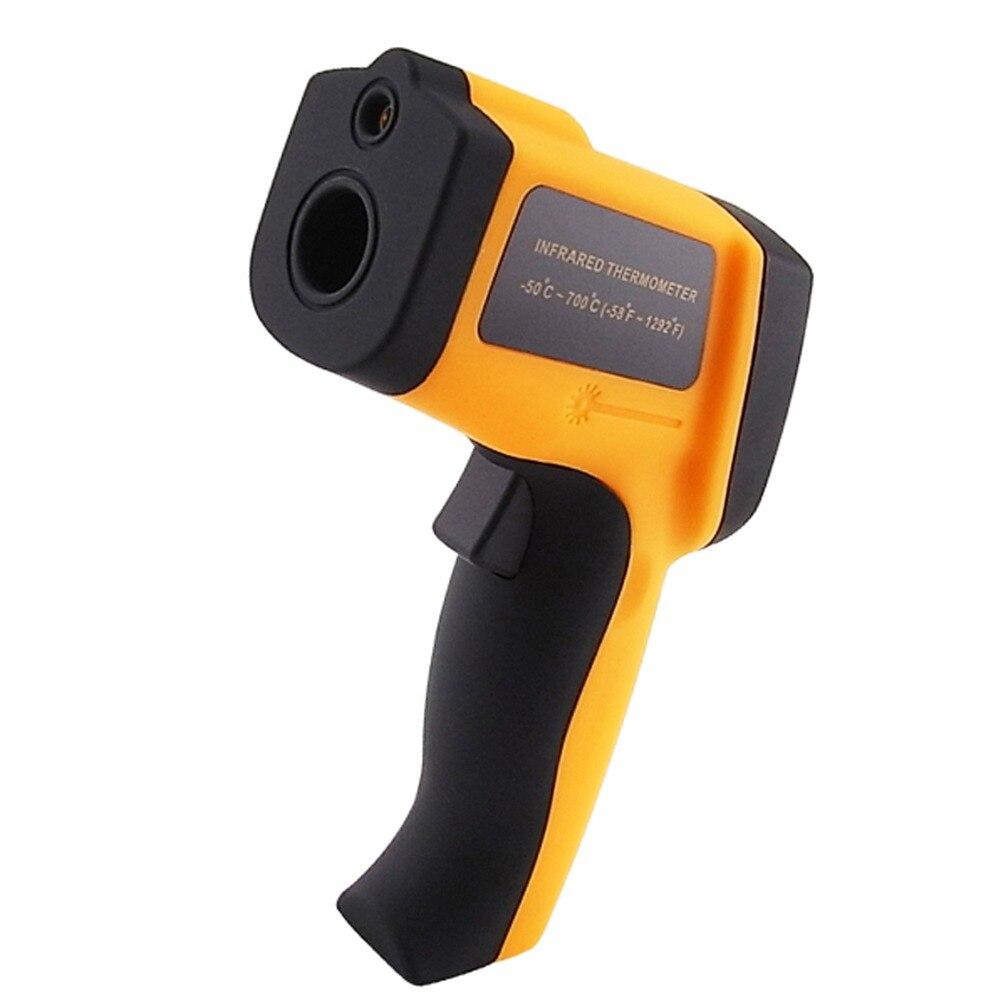 Thermomètre Laser infrarouge infrarouge numérique 12:1 DS pyromètre-50 ~ 700 degrés Celsius gamme 12 mémoires testeur Portable de stockage
