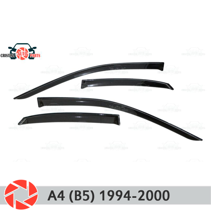Window deflector for Audi A4 (B5) 1994-2000 rain deflector dirt protection car styling decoration accessories molding jgd brand new styling for audi a4 b7 led headlight 2005 2008 headlight bi xenon head lamp led drl car lights