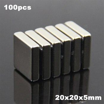 100pcs F20x20x5mm Super Powerful Strong Rare Earth Block NdFeB Magnet Neodymium N35 Magnets F20*20*5mm- Free Shipping