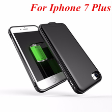 For Iphone 7 Plus Power Case Thin metal frame 4000 mAh Battery Charger Case Cover Smart For Iphone 7 Plus Power Case 5.5 Inch