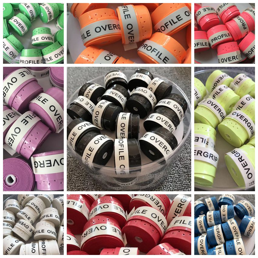 120pcs Sticky feel tennis Overgrip perforated tennis grip Badminton Grip tennis overgrip tennis racket grip