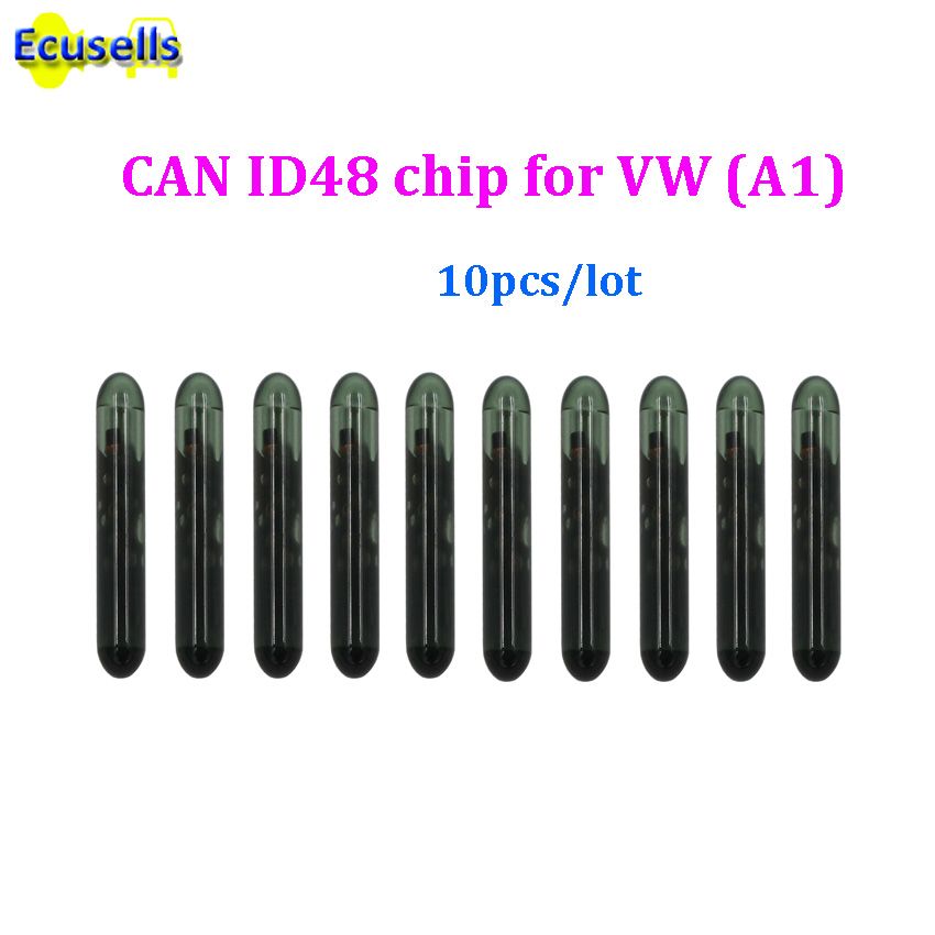 10pcs lot Glass for Volkswagen CAN TP23 ID48 A1 Megamos Crypto Transponder ID 48 Chip for