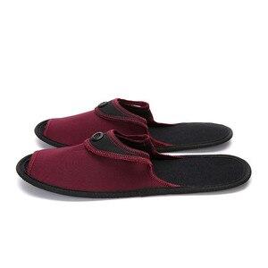 Image 5 - Осенняя обувь, 2 пары, мужская повседневная обувь, дышащие домашние тапочки, обувь для пар, для отеля, для деловых поездок, складные мюли