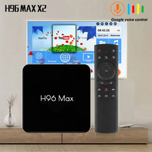 H96 MAX X2 ANDROID TVBOX 8.1 4GB 64GB S905X2 1080P H.265 4K Google Play Store Youtube h96MAX Smart TV Box 4B 32GB đa Phương Tiện(China)