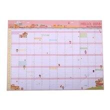 1 PCS Korea cute cartoon wall calendar 2018 365 calendar creative plan paper 60 * 43cm