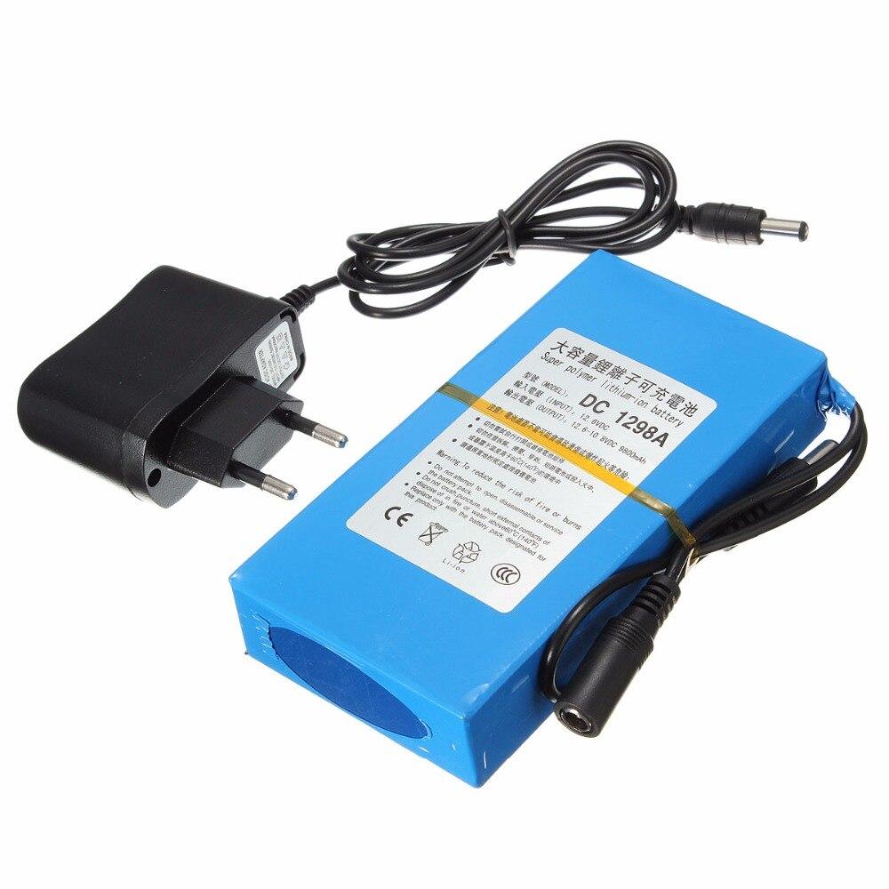 GTF Durable DC 12 V Batterie Au Lithium 9800 mAh Batterie Polymère Batterie Pack Rue Lumière Instrument LED Lumière Veille Puissance
