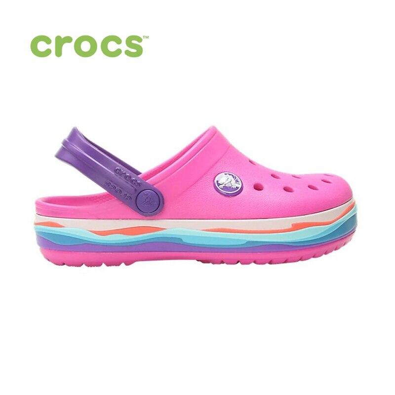 CROCS Crocband Wavy Band Clog K KIDS or boys/for girls, children, kids TmallFS shoes crocs crocband clog k
