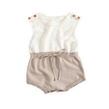 Baby Body Kleinkind Gestrickte Kleidung Sommer Overall Overalls Rüschen Baby Jungen Kleidung Mädchen Bodys Baby Mädchen Casual Roupas