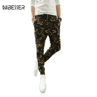 NIBESSER 2017 Men Camouflage Sweat Pants Wasitband Exercise Fitness Trousers Slim Fit Breathable Military Style Joggers