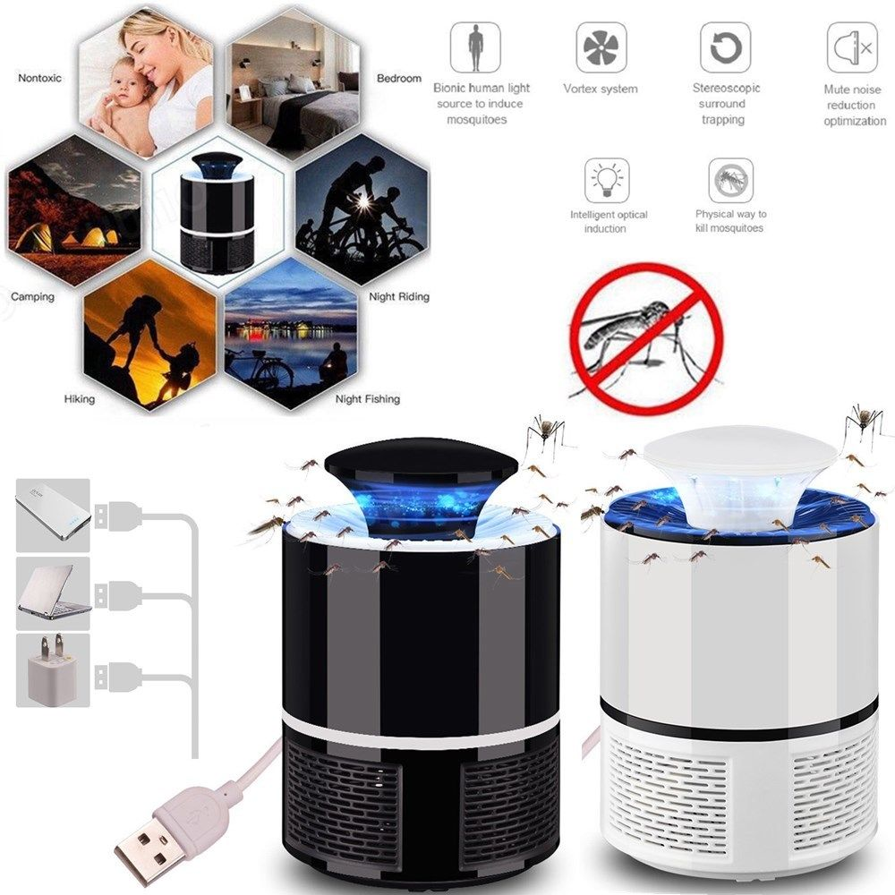 Home & Garden Usb Non-radiation Mosquito Lamp Electric Mosquito Killer Lamp Light Anti Mosquito Trap Fly Bug Zapper Insect Killer Pest Control By Scientific Process Repellents