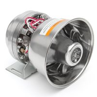 NEW 200W 12V Loud Speaker Car Horn Siren Warning Alarm Stainless Steel Home Security Safety