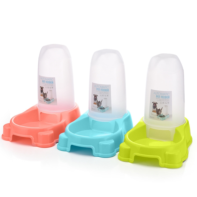 auto Feeder Pets Dog Water Dispenser Cat Feeding & Watering Supplies Automatic Pet Feeder For