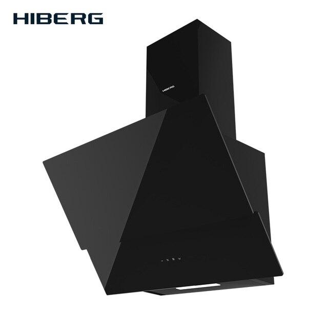 Кухонная вытяжка (воздухоочиститель) HIBERG NM 6061 B, закаленное стекло, сенсорное управление, 550 куб.м/час, LED 2*2.5 Вт, 3 скорости