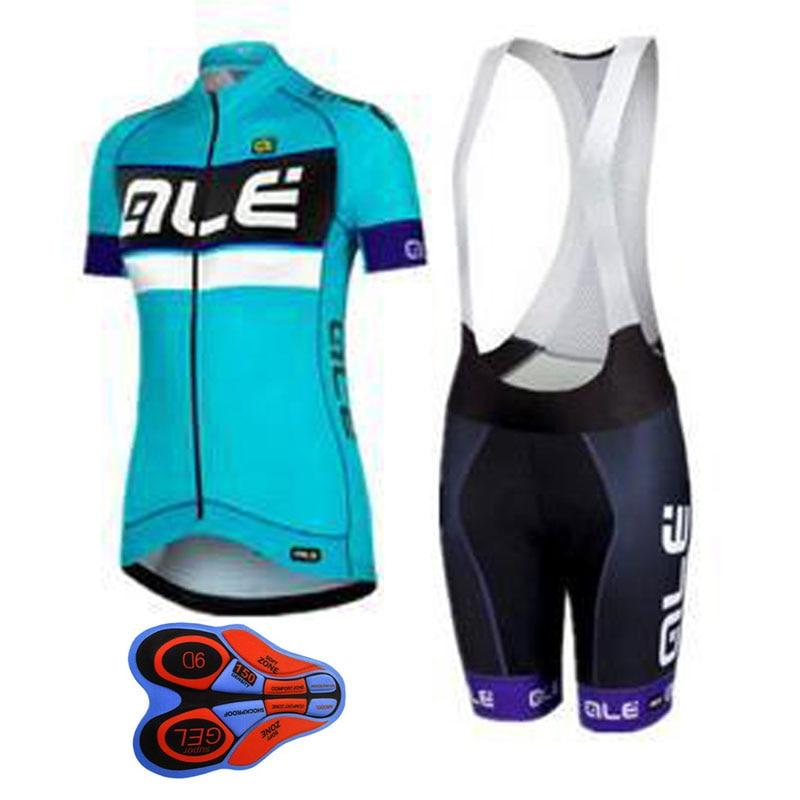 2018 ALE девушку Велоспорт Джерси короткий рукав велосипед Велосипедный Спорт Одежда 100% полиэстер рубашка быстросохнущая Костюмы Ropa Ciclismo Hombre ...