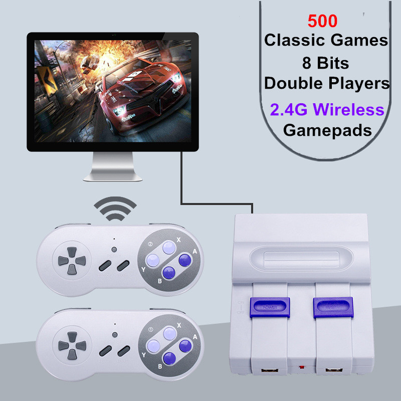 Portable Video Game Console Dual 2 4G Wireless Game Controller Retro Game Player Built-in 500 Classic Games   HDMI Game Console