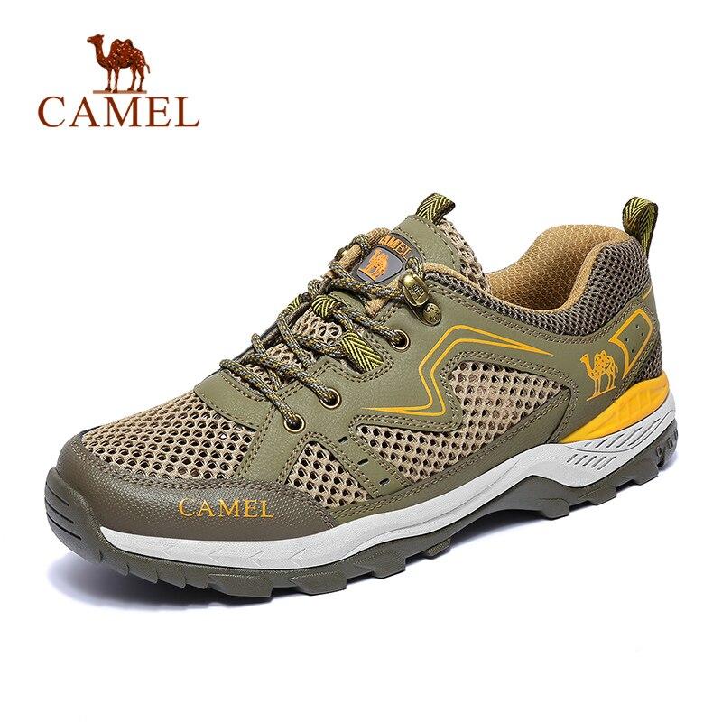 CAMEL 2019 Men Women Outdoor Mesh Hiking Shoes Breathable Non slip Durable Anti impact Travel Trekking