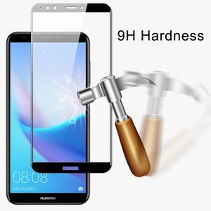 Image 2 - Ochraniacz ekranu HD szkło hartowane dla Huawei Y3 Y5 Y6 Y7 Y9 2018 Y5 Y6 2017 Y7 Prime Pro kolorowe folie ochronne