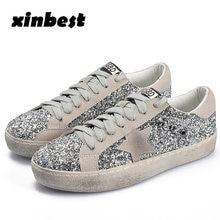 2018 Xinbest Women Skateboarding Shoes Do Old Dirty Womens Sneakers Glisten  Star Canvas Shoes Sport Shoes 1da86ab5e9e0