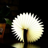 Remote LED Portable Book Lamp Color Changing Folding Night Light Magic Lamp Adjustable Home Bedroom Study