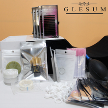 Glesum professional lash Extension kit 14 different Ingredients make-up Tools for grafting Eyelashes Makeup container