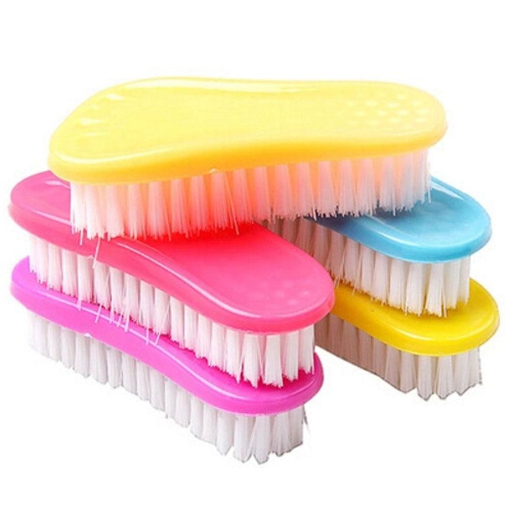 1 Unids Color Al Azar Hermosa Pies Con Un Cepillo Limpio Limpieza Para Ropa Zapa