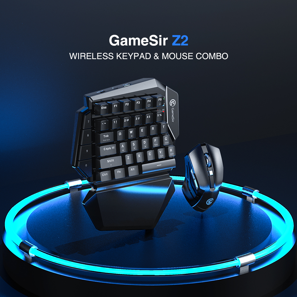 GameSir Z2 Gaming 2.4GHz Wireless Keypad and DPI Mouse Combo One-handed Keyboard For Android/iOS/Windows For PUBG FPS Games 1