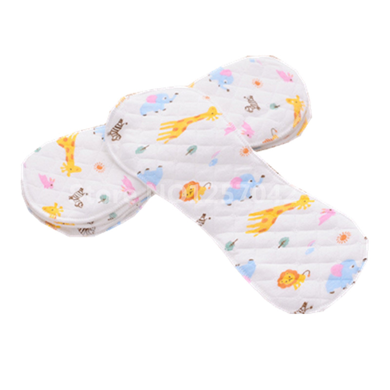 Print Cartoon 10Pcs Cotton Inserts For Baby Cloth Diaper Nappies Reusable Cloth Nappy Washable Inserts Liners For Diaper Pocket