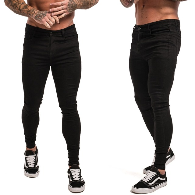 Gingtto Skinny Jeans For Men Black Streetwear Hip Hop Stretch Jeans Hombre Slim Fit Fashion Biker Ankle Tight Dropshipping zm01 5