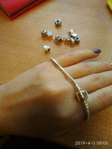 браслет серебро; Пункт Форма:: Круглая Форма; бусина Пандора;