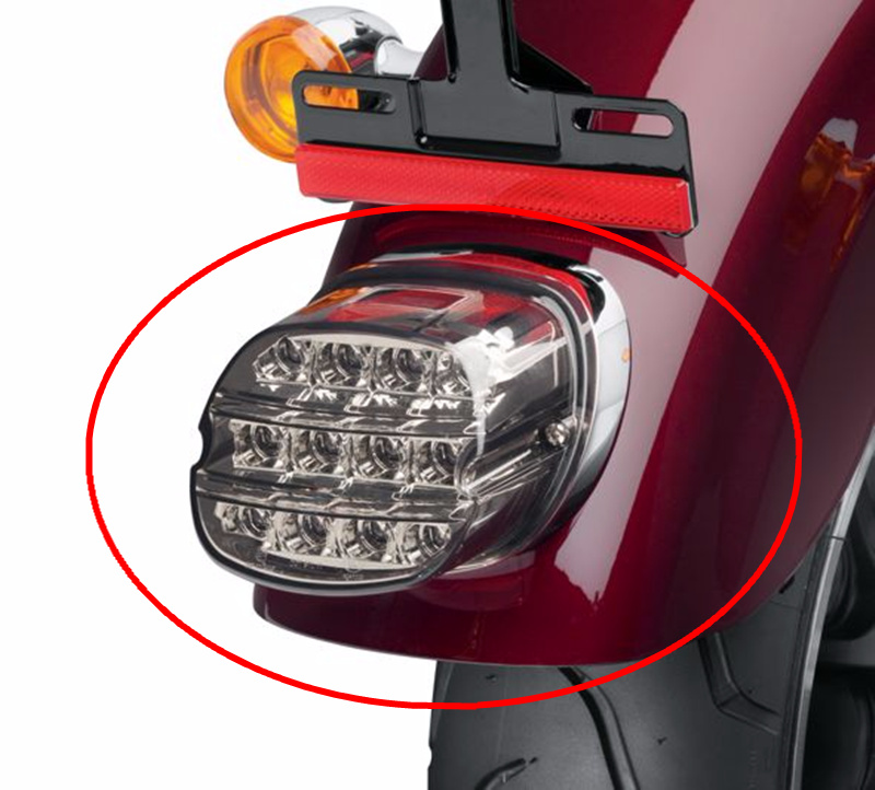 For Harley Dyna Fat Boy FLSTF Night Train FXSTB Softail Sportster Road King Electra Glide Road Glide Motorcycle Led Tail Light
