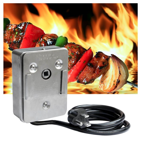 110V Onlyfire Universal Grill Electric Replacement BBQ Grill Heavy Duty  Stainless Steel Rotisserie Motor Electric Motor diy stainless steel motor universal coupling silver 4 x 4mm