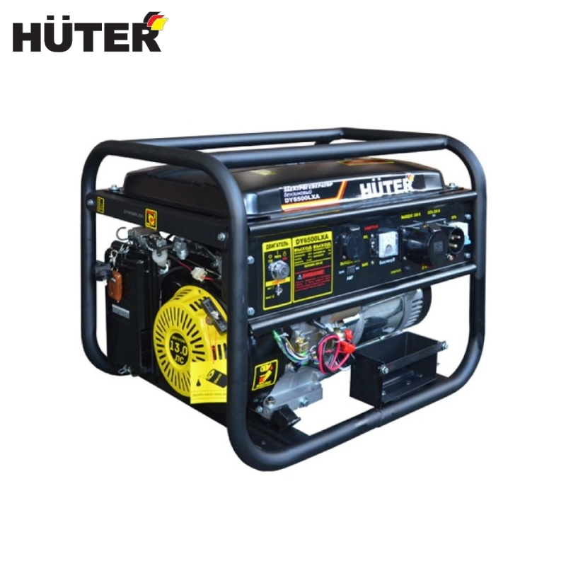 Electric generator HUTER DY6500LXA (with AVR) Power home appliances Backup source during power outages Benzine power stations mx341 avr stamford regulators generator voltage brushless