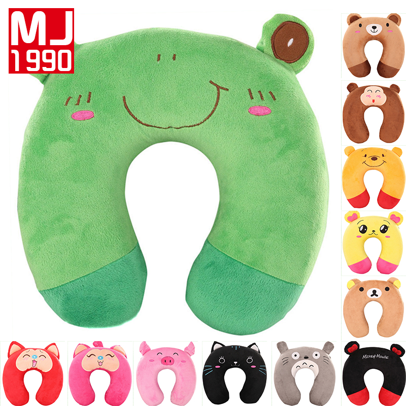U Shaped Memory Foam Neck Pillow Cute Cartoon Embroidery Soft Slow Rebound Space Travel Pillows Home Cervical Healthcare Bedding