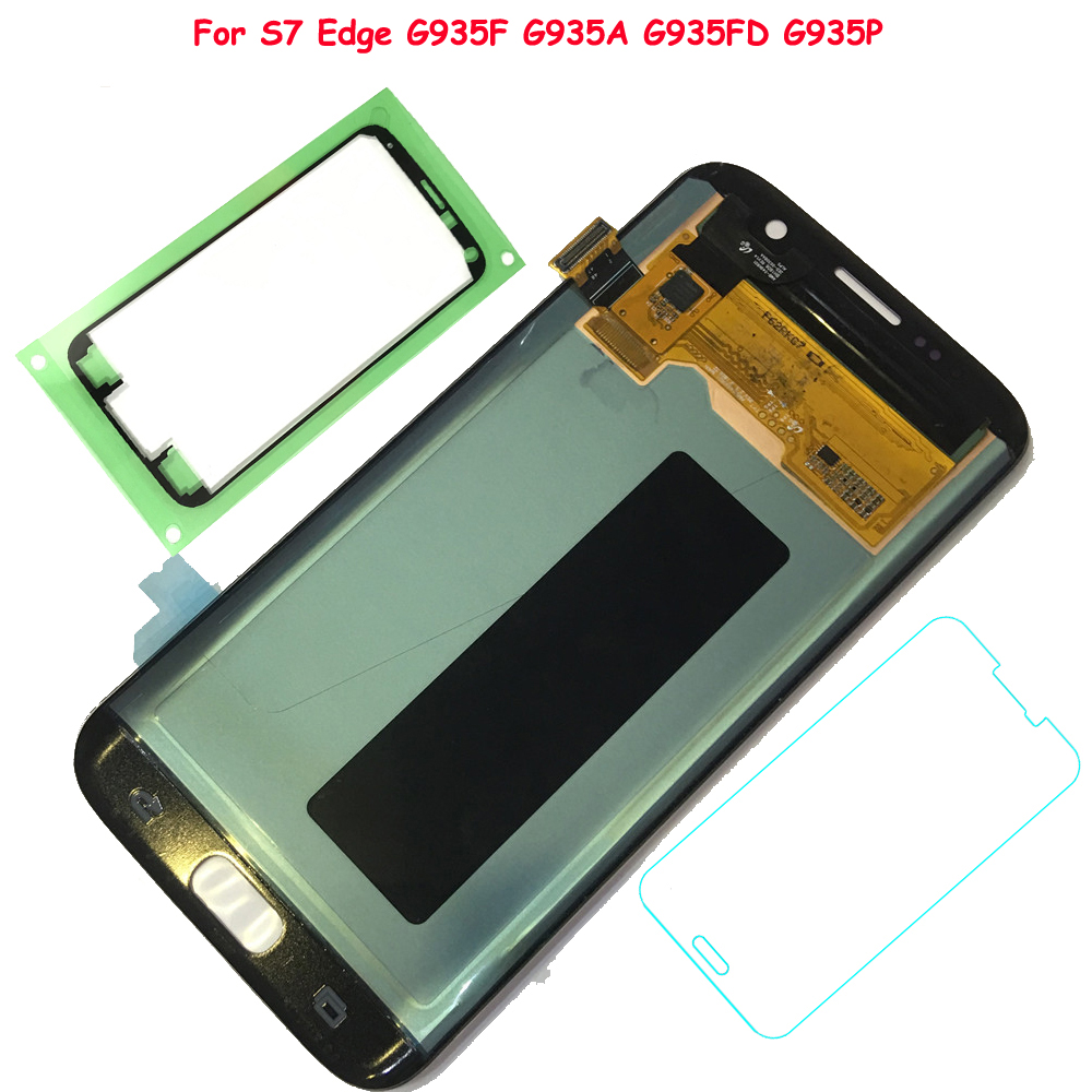 FIX2SAILING 100% Testé Travail AMOLED LCD Affichage Tactile Assemblée D'écran Pour Samsung Galaxy S7 Bord G935F G935A G935FD G935P