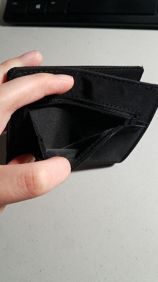 2019 Minimalistische Slim voor Mannen Vrouwen Slimline Portefeuilles Ultra Dunne Mini Kleine Mannelijke Vrouwelijke Portemonnee Compact Geld Jongen Nylon Korte photo review