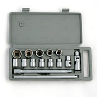 ERMAK Set of heads, 15 pcs. 10 27 mm, with cardan joint 1/2 tool for car plastic case multifunction free shipping sale 736 541