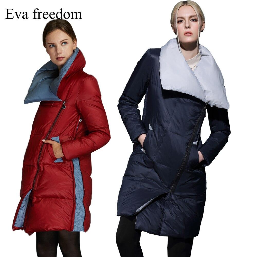Veste femme douce d'hiver dans la longue section remplie de 90% duvet de canard blanc couleur riche personnalité de la mode femmes bas jacke