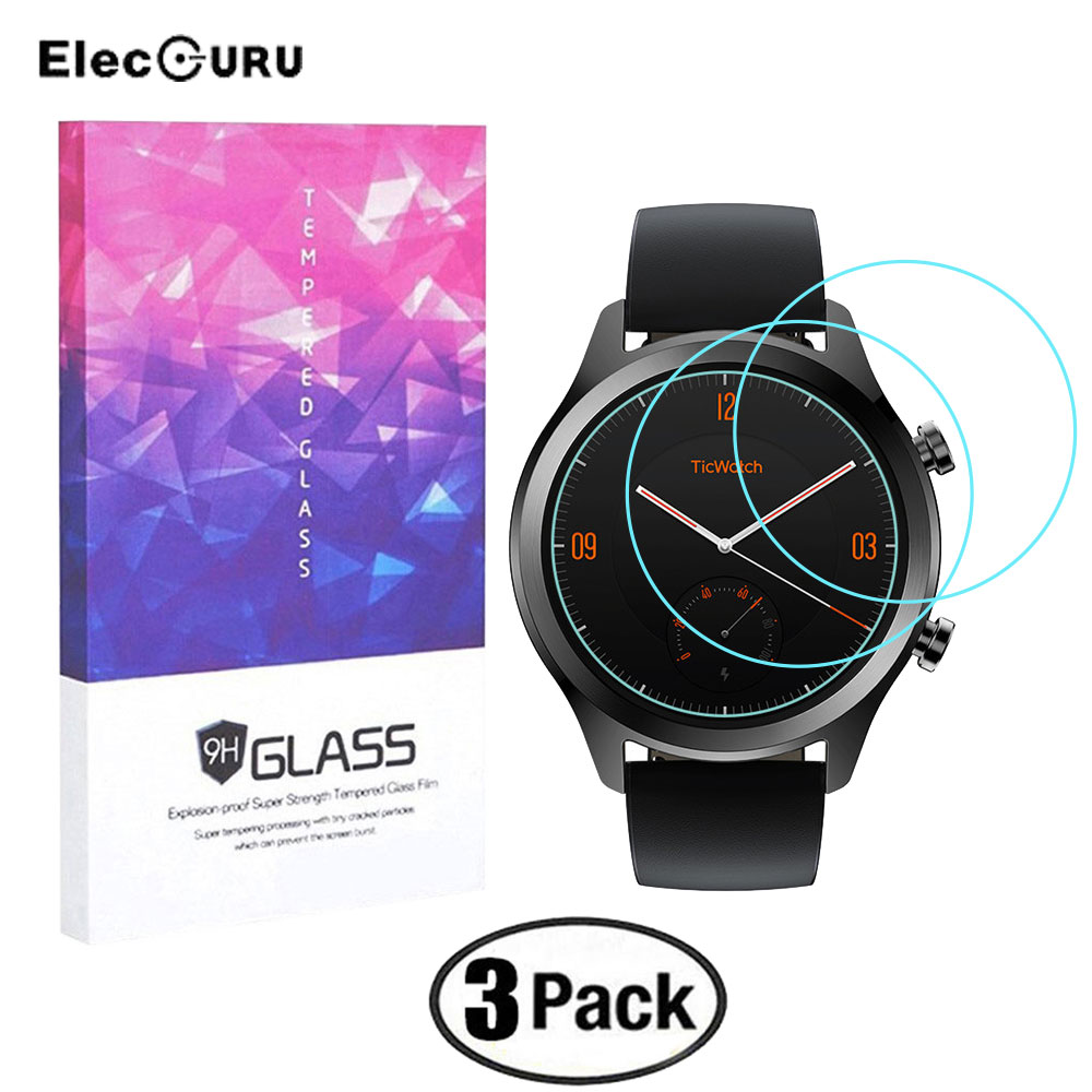 2.5D Premium Tempered Glass For Ticwatch C2 Clear 0.3mm Tempered Glass Screen Protector Explosion-proof Anti Scratch Film Guard