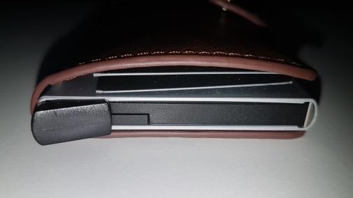 Maideduod Hot Koop PULeather Metalen Mannen Kaarthouder RFID Aluminium Hoge kwaliteit Creditcardhouder Met RFID Blokkeren Mini Portemonnee photo review