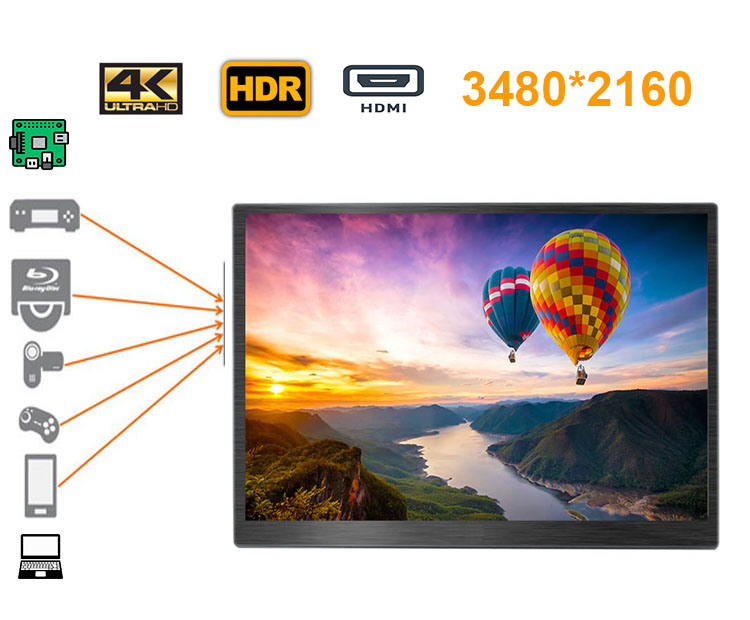17 3 inch 4K 3840 2160 screen LCD monitor ultra slim widescreen ideal for all HDMI