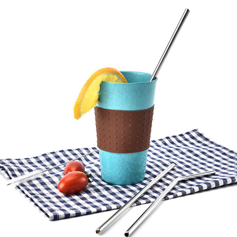2018 Hot 4/6Pcs Reusable Drinking Straw High Quality